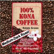 medium dark roast m m coffee gourmet estate 100 kona. Black Bedroom Furniture Sets. Home Design Ideas